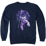 Aquaman Movie Evil Doers Adult Crewneck Sweatshirt Navy