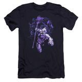 Aquaman Movie Evil Doers Premium Adult 30/1 T-Shirt Navy