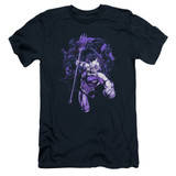 Aquaman Movie Evil Doers Adult 30/1 T-Shirt Navy