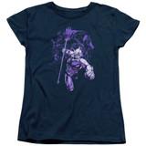 Aquaman Movie Evil Doers Women's T-Shirt Navy