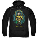 Aquaman Movie Aqua Nouveau Adult Pullover Hoodie Sweatshirt Black