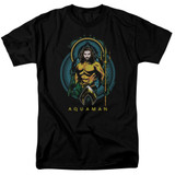 Aquaman Movie Aqua Nouveau Adult 18/1 T-Shirt Black