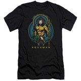 Aquaman Movie Aqua Nouveau Adult 30/1 T-Shirt Black