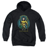 Aquaman Movie Aqua Nouveau Youth Pullover Hoodie Sweatshirt Black