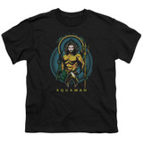 Aquaman Movie Aqua Nouveau Youth T-Shirt Black