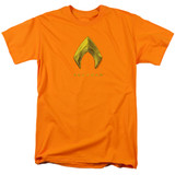 Aquaman Movie Aquaman Logo Adult 18/1 T-Shirt Orange