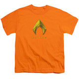 Aquaman Movie Aquaman Logo Youth T-Shirt Orange