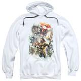 Aquaman Movie King Of Atlantis Adult Pullover Hoodie Sweatshirt White