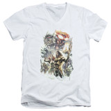 Aquaman Movie King Of Atlantis Adult V-Neck T-Shirt White
