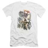 Aquaman Movie King Of Atlantis Premium Adult 30/1 T-Shirt White