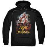 Army of Darkness Bloody Poster Adult Pullover Hoodie Sweatshirt Black
