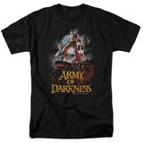 Army of Darkness Bloody Poster Adult 18/1 T-Shirt Black