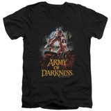 Army of Darkness Bloody Poster Adult V-Neck T-Shirt Black
