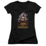 Army of Darkness Bloody Poster Junior Women's V-Neck T-Shirt Black