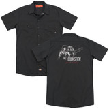 Army of Darkness Boomstick (Back Print) Adult Work Shirt Black