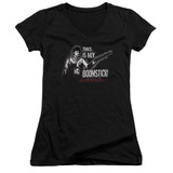Army of Darkness Boomstick Junior Women's V-Neck T-Shirt Black