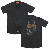 Army of Darkness Covered (Back Print) Adult Work Shirt Black