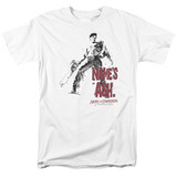 Army of Darkness Names Ash Adult 18/1 T-Shirt White