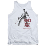 Army of Darkness Names Ash Adult Tank Top T-Shirt White