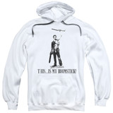 Army of Darkness Boomstick Adult Pullover Hoodie Sweatshirt White