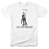Army of Darkness Boomstick Adult 18/1 T-Shirt White