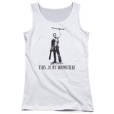 Army of Darkness Boomstick Junior Women's Tank Top T-Shirt White