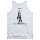 Army of Darkness Boomstick Adult Tank Top T-Shirt White