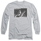 Army of Darkness Groovy Adult Long Sleeve T-Shirt Silver