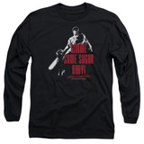 Army of Darkness Sugar Adult Long Sleeve T-Shirt Black