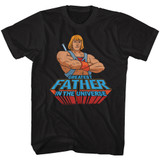 Masters of the Universe Greatest Dad Black Adult T-Shirt