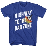 Top Gun HWY To Dad Zone Royal Adult T-Shirt