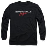Beverly Hills Cop Logo Adult Long Sleeve T-Shirt Black