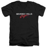 Beverly Hills Cop Logo Adult V-Neck T-Shirt Black