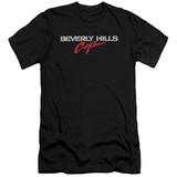 Beverly Hills Cop Logo Premium Canvas Adult Slim Fit 30/1 T-Shirt Black