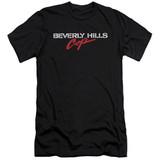 Beverly Hills Cop Logo Adult 30/1 T-Shirt Black