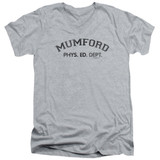 Beverly Hills Cop Mumford Adult V-Neck T-Shirt Athletic Heather