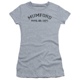 Beverly Hills Cop Mumford Junior Women's Sheer T-Shirt Athletic Heather
