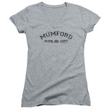 Beverly Hills Cop Mumford Junior Women's V-Neck T-Shirt Athletic Heather