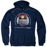 Beverly Hills Cop Nicest Police Car Adult Pullover Hoodie Sweatshirt Navy