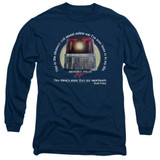 Beverly Hills Cop Nicest Police Car Adult Long Sleeve T-Shirt Navy