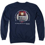 Beverly Hills Cop Nicest Police Car Adult Crewneck Sweatshirt Navy