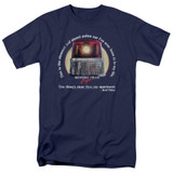 Beverly Hills Cop Nicest Police Car Adult 18/1 T-Shirt Navy