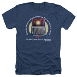 Beverly Hills Cop Nicest Police Car Adult Heather T-Shirt Navy