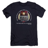 Beverly Hills Cop Nicest Police Car Premium Canvas Adult Slim Fit 30/1 T-Shirt Navy