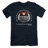 Beverly Hills Cop Nicest Police Car Adult 30/1 T-Shirt Navy