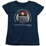 Beverly Hills Cop Nicest Police Car Women's T-Shirt Navy
