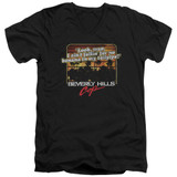 Beverly Hills Cop Banana In My Tailpipe Adult V-Neck T-Shirt Black