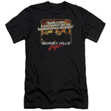 Beverly Hills Cop Banana In My Tailpipe Premium Canvas Adult Slim Fit 30/1 T-Shirt Black