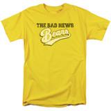 Bad News Bears Logo Adult 18/1 T-Shirt Yellow