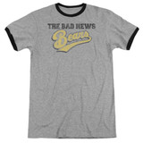 Bad News Bears Logo Adult Ringer T-Shirt Heather/Black
